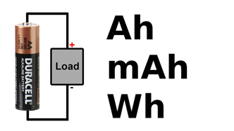 Amp-hour watt-hour battery capacity
